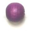 Wooden Bead Round 6mm Purple
